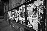 Street posters in Barcelona, Spain. Feb. 17, 2009.