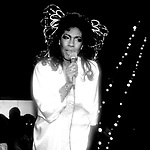 Mary Wilson in her comeback performance at the Red Parrot Disco on April 26, 1982 in New York City. (Gowns designed by Tony Chase)