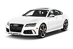 2015 Audi RS7  quattro tiptronic Prestige 5 Door Hatchback angular front stock photos of front three quarter view
