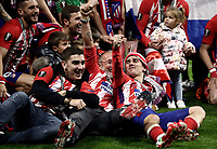 Club Atletico de Madrid's players celebrate at the end of the UEFA Europa League final football match between Olympique de Marseille and Club Atletico de Madrid at the Groupama Stadium in Decines-Charpieu, near Lyon, France, May 16, 2018. Club Atletico de Madrid won 3-0.<br /> UPDATE IMAGES PRESS/Isabella Bonotto