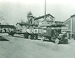 Furniture moving truck and trailer of the E. J. Kelley Company, 1913