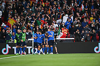 LONDON, ENGLAND - JULY 06: Federico Chiesa of Italy celebrates after scoring their side's first goal during the UEFA Euro 2020 Championship Semi-final match between Italy and Spain at Wembley Stadium on July 06, 2021 in London, England. (Photo by Shaun Botterill - UEFA/UEFA via Getty Images)<br /> Photo Uefa/Insidefoto ITA ONLY
