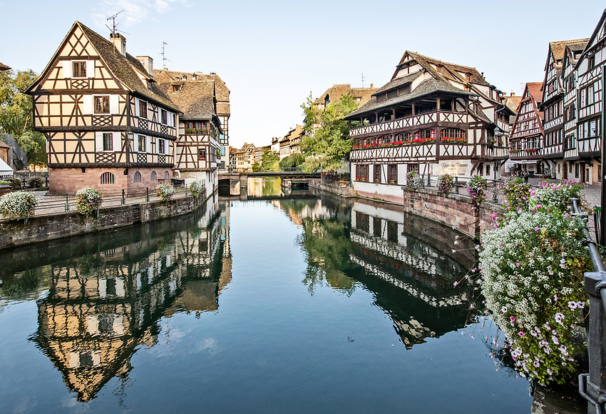 "View of the ""Petite France"" area of Strasbourg, Alsace, in early morning"
