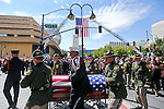 Honor Guard members bring the casket of Carson City Sheriff's Deputy Carl Howell into the Reno Events Center in Reno, Nev., on Thursday, Aug. 20, 2015. Howell was shot and killed early Saturday morning after responding to a domestic violence call. (Cathleen Allison/Las Vegas Review-Journal)