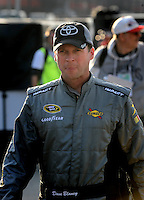 Feb 20, 2009; Fontana, CA, USA; NASCAR Sprint Cup Series driver Dave Blaney during qualifying for the Auto Club 500 at Auto Club Speedway. Mandatory Credit: Mark J. Rebilas-