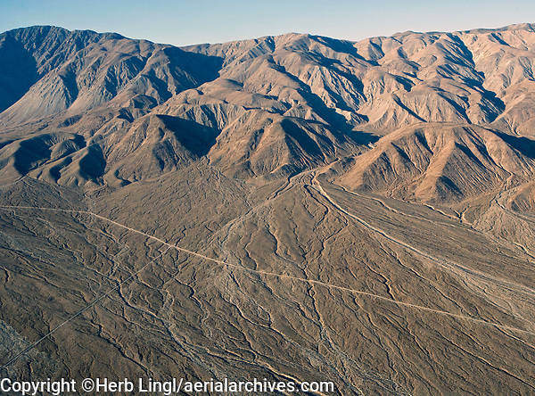 aerial photograph of the Saline Valley in Death Valley National Park, California