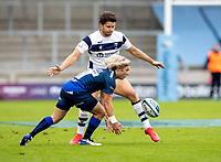29th August 2020; AJ Bell Stadium, Salford, Lancashire, England; English Premiership Rugby, Sale Sharks versus Bristol Bears;  Faf de Klerk of Sale Sharks picks up a lose ball