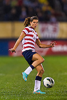 Tobin Heath (17) of the United States (USA). The United States (USA) and Germany (GER) played to a 2-2 tie during an international friendly at Rentschler Field in East Hartford, CT, on October 23, 2012.