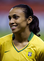 Brazil forward (10) Marta. Germany defeated Brazil, 2-0 during the FIFA Women's World Cup final at Hongkou Stadium in Shanghai, China on September 30, 2007.