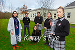Darga Puzanove and her fellow Killarney Communty College  students who won the best group  for their Young Social Innovators project 'Be Dementia Aware' at the Garda Youth awards on Wednesday  Lorraine Crowley teacher, Ben Cussen, Caoimhe Fleming, Julia Olabode, and Aoife O'Brien