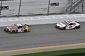 #18: Kyle Busch, Joe Gibbs Racing, Toyota Camry M&M's Chocolate Bar, #11: Denny Hamlin, Joe Gibbs Racing, Toyota Camry FedEx Express