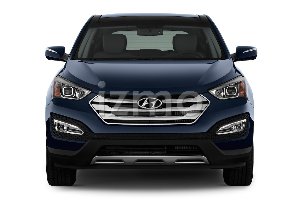 Straight front view of a 2013 Hyundai Santa Fe Sport