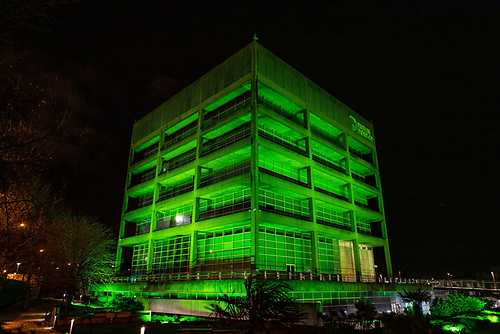 Dublin Port Centre goes green for St. Patrick's Day