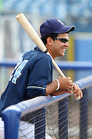 Wilmington Blue Rocks catcher Juan Graterol #24 during practice before a game against the Lynchburg Hillcats at Frawley Stadium on May 3, 2011 in Wilmington, Delaware.  Lynchburg defeated Wilmington by the score of 11-1.  Photo By Mike Janes/Four Seam Images