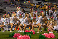 Marshall Thundering Herd cheerleaders. The Pitt Panthers defeated the Marshall Thundering Herd 43-27 on October 1, 2016 at Heinz Field in Pittsburgh, Pennsylvania.
