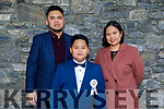 Kaleby Casas from Moyderwell NS receiving his First Holy Communion on Saturday with his parents Kelvin and Annie Casas in St Johns Church.