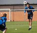 Bilel Mohsni heads over the net