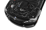 Car Stock 2017 BMW 4-Series 440i 2 Door Coupe Engine  high angle detail view