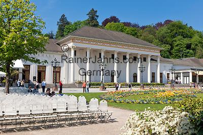 Germany, Baden-Wuerttemberg, Baden-Baden: spa building with the famous Casino Baden-Baden at spa gardens | Deutschland, Baden-Wuerttemberg, Baden-Baden: Kurhaus mit dem beruehmten Casino Baden-Baden im Kurpark
