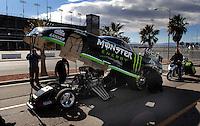 Jan 21, 2007; Las Vegas, NV, USA; The car of NHRA Funny Car driver Kenny Bernstein during preseason testing at The Strip at Las Vegas Motor Speedway in Las Vegas, NV. Mandatory Credit: Mark J. Rebilas