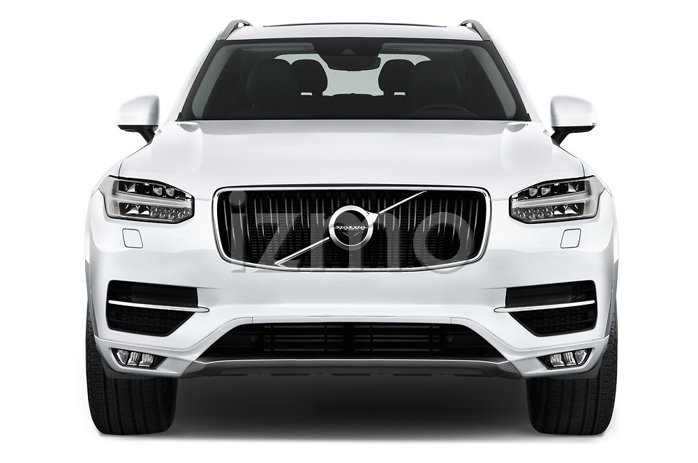 Car photography straight front view of a 2019 Volvo XC90 T5 Momentum AWD 5 Door SUV