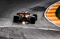 27th August 2021; Spa Francorchamps, Stavelot, Belgium: FIA F1 Grand Prix of Belgium, free practise:   3 Daniel Ricciardo AUS, McLaren F1 Team,