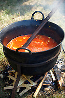 Porkolt being prepared at the Kalocsa Paprika festival, Hungary