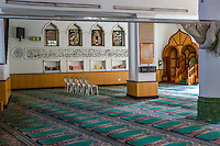 South Africa, Cape Town.  Interior of the Auwal (al-Awwal) Mosque, Bo-kaap's Oldest.