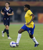 Brazil midfielder (9) Maycon. Brazil defeated Australia, 3-2 during the quarterfinals of the FIFA Women's World Cup at Tianjin Olympic Center Stadium in Tianjin, China on September 23, 2007.