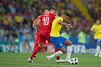 Moscow, RUSSIA - Wednesday, June 27, 2018: Brazil beat Serbia 2-1 at Spartak Stadium in Moscow.