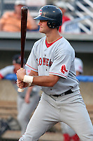 Lowell Spinners Zach Daeges during a NY-Penn League game at Dwyer Stadium on July 21, 2006 in Batavia, New York.  (Mike Janes/Four Seam Images)