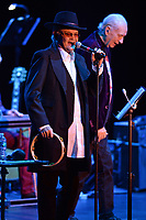 FORT LAUDERDALE, FL - OCTOBER 12: Michael Nesmith and Micky Dolenz of The Monkees perform during the Farewell Tour at The Parker on October 12, 2021 in Fort Lauderdale Florida. <br /> CAP/MPI04<br /> ©MPI04/Capital Pictures