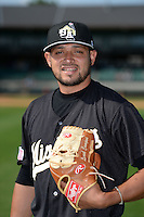 San Antonio Missions pitcher Leonel Campos (6) poses for a photo before a game against the Arkansas Travelers on May 25, 2014 at Dickey-Stephens Park in Little Rock, Arkansas.  Arkansas defeated San Antonio 3-1.  (Mike Janes/Four Seam Images)