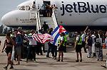 JetBlue's inaugural flight from USA to Cuba