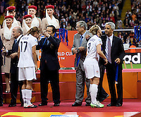 Amy Rodriguez, Sunil Gulati.  Japan won the FIFA Women's World Cup on penalty kicks after tying the United States, 2-2, in extra time at FIFA Women's World Cup Stadium in Frankfurt Germany.