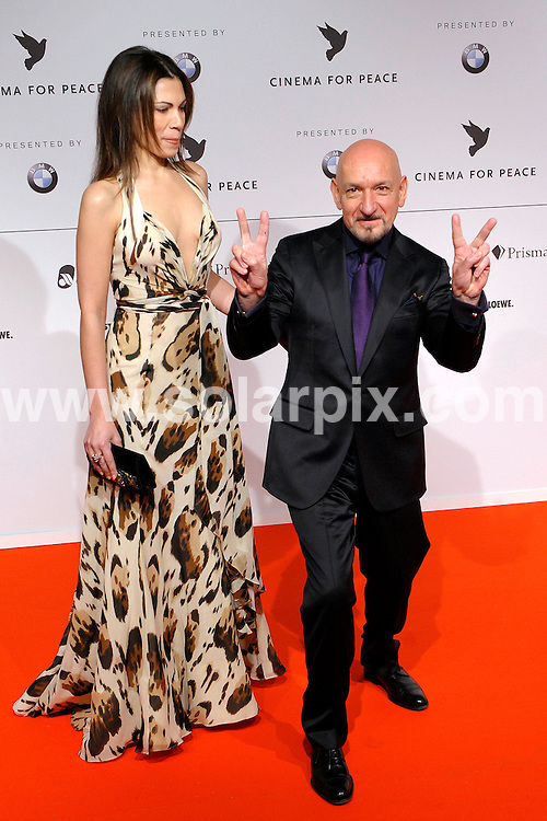 **ALL ROUND PICTURES FROM SOLARPIX.COM**.**SYNDICATION RIGHTS FOR UK AND SPAIN ONLY**.Cinema for Peace Gala 2009 at the Benefit Gala in Berlin...This pic:Sir Ben Kingsley and wife Daniela Barbosa De Carneiroat..JOB REF: 8438        CPR/Gottshal        DATE:09.02.09.**MUST CREDIT SOLARPIX.COM OR DOUBLE FEE WILL BE CHARGED**.**ONLINE USAGE FEE  GBP 50.00 PER PICTURE - NOTIFICATION OF USAGE TO PHOTO @ SOLARPIX.COM**