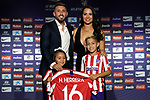 Atletico de Madrid's new player Hector Herrera with his wife Chantal Mato and their children Valentina y David during his official presentation. July 4, 2019. (ALTERPHOTOS/Acero)