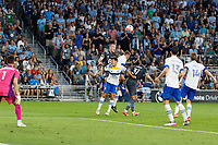 SAINT PAUL, MN - JULY 3: Brent Kallman #14 of Minnesota United FC during a game between San Jose Earthquakes and Minnesota United FC at Allianz Field on July 3, 2021 in Saint Paul, Minnesota.