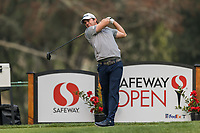 11th September 2020, Napa, California, USA;  Ryan Blaum of the United States tees off during the second round of the Safeway Open PGA tournament on September 11, 2020 at Silverado Country Club in Napa, CA.