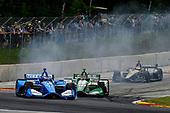 Felix Rosenqvist, Chip Ganassi Racing Honda Colton Herta, Harding Steinbrenner Racing Honda