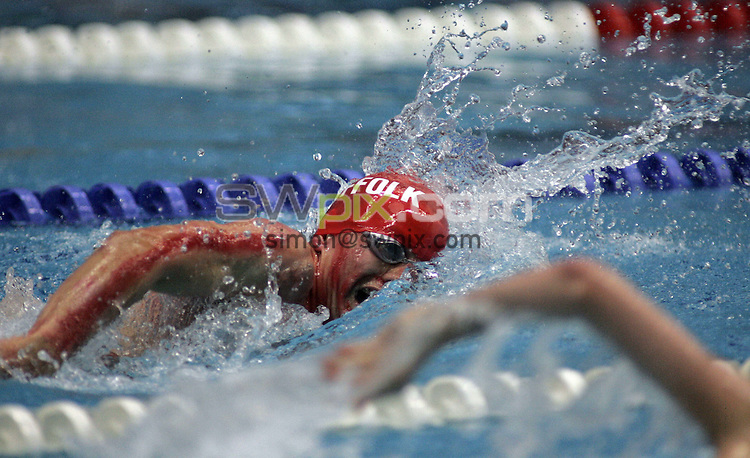 PICTURE BY BEN DUFFY/SWPIX.COM ASA National County Team Championships 2007, Ponds Forge swimming pool...21/10/07...Copyright - Simon Wilkinson - 07811267706..Aaron Lynch in action for Suffolk