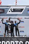 #10: Konica Minolta Acura ARX-05 Acura DPi, DPi: Ricky Taylor, Filipe Albuquerque, Wayne Taylor celebrate the win in victory lane