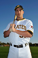 Feb 28, 2010; Bradenton, FL, USA; Pittsburgh Pirates  infielder Steve Pearce (51) during  photoday at Pirate City. Mandatory Credit: Tomasso De Rosa/ Four Seam Images