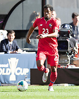 CLEVELAND, OH - JUNE 22: Michael Murillo #23 during a game between Panama and Guyana at FirstEnergy Stadium on June 22, 2019 in Cleveland, Ohio.