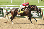 Even money favorite Flat Out with Junior Alvarado wins the 127th running of the Grade II Suburban Handicap for 3-year olds & up, going 1 1/8 mile, at Belmont Park.  Trainer William Mott   Owners Preston Stables LLC