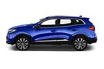 Car Driver side profile view of a 2019 Renault Kadjar Intens 5 Door SUV Side View