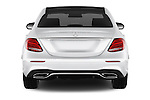 Straight rear view of 2016 Mercedes Benz E-Klasse Sportline 4 Door Sedan Rear View  stock images