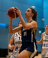 Irene Garrido-Perez of Sevenoaks Suns looks to shoot during the WBBL Championship match between Sevenoaks Suns and Newcastle Eagles at Surrey Sports Park, Guildford, England on 20 March 2021. Photo by Liam McAvoy