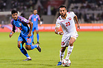 Jamal Rashed Abdulrahman of Bahrain (R) is followed by Pritam Kotal of India (L) during the AFC Asian Cup UAE 2019 Group A match between India (IND) and Bahrain (BHR) at Sharjah Stadium on 14 January 2019 in Sharjah, United Arab Emirates. Photo by Marcio Rodrigo Machado / Power Sport Images