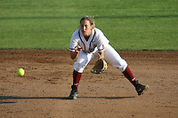 25 October 2007: Stanford Cardinal Maddy Coon during Stanford's 5-4 loss in seven innings against the San Jose State Spartans at Boyd & Jill Smith Family Stadium in Stanford, CA.